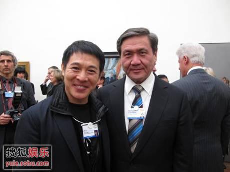 李连杰先生与蒙古总统Nambaryn Enkhbayar