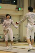 图文:谭雪与男友甜蜜写真 击剑台上互相砥砺