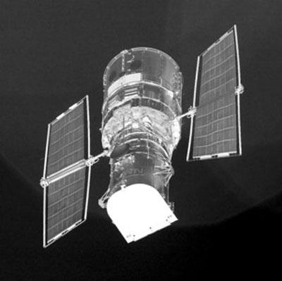 1990年4月发射的哈勃太空望远镜 新华社图片