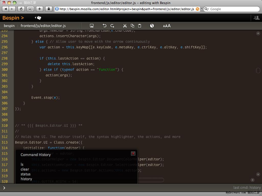 mozilla推出在线代码编辑器bespin(图)