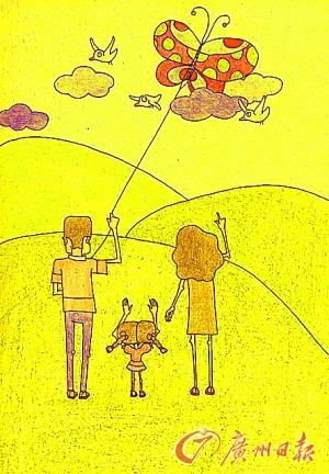 妈妈牵手孩子卡通图片