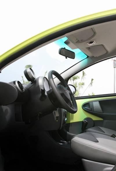 """圆圆的""""Q版""""设计元素运用到了车里的每个空间。"""