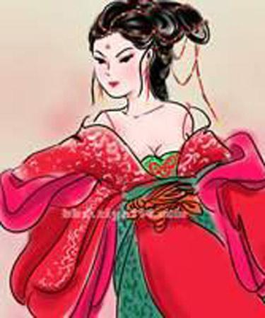 古代人物妃子简笔画