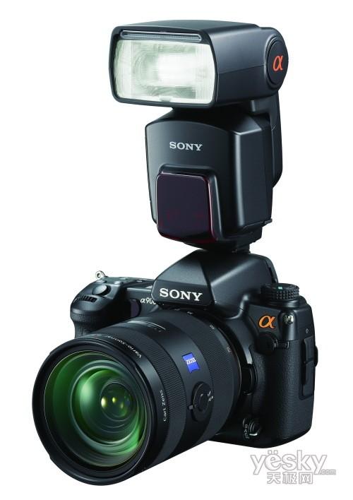 索尼 闪光灯/安装HVL/F58AM 闪光灯的索尼a900数码单反相机