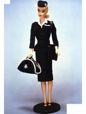 给芭比娃娃做空姐制服图片