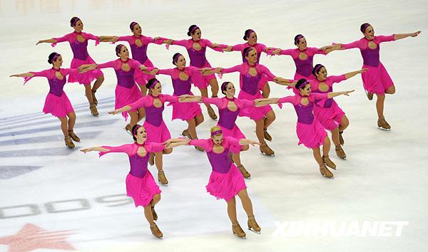 组图:大冬会花样滑冰队列滑决赛 俄罗斯队摘铜图片