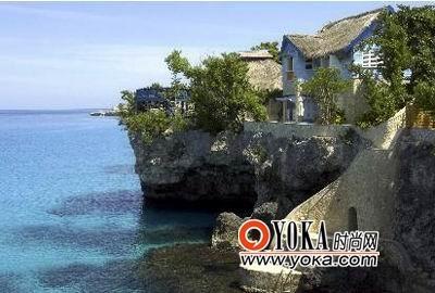 牙买加的岩洞旅馆