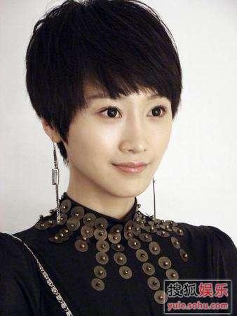 肖涵为《流星雨》角色剪成短发 淑女变辣姐(图)
