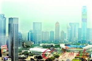 高楼林立的天河。目前,广州市有近8000栋高层建筑。记者海国摄