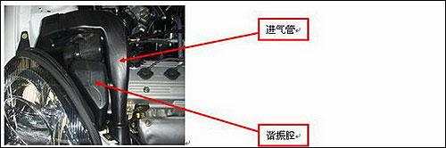 图二:更为合适的降低噪音的进气管和谐振腔
