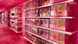 4层不仅有芭比玩具和mp3礼品,甚至女洗手间的标志都是芭比高清图片