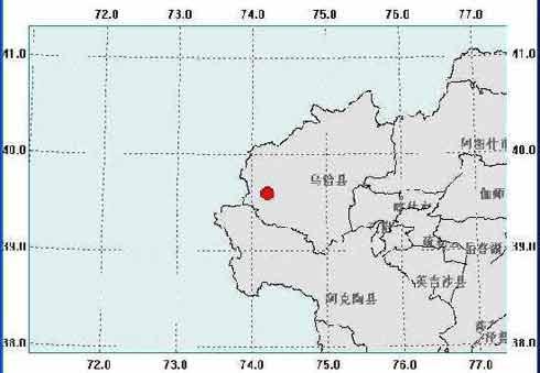 新疆乌恰县地震示意图(来源新疆地震信息网)