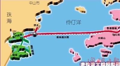 港珠澳大桥料2015年底建成通车 总造价逾727亿