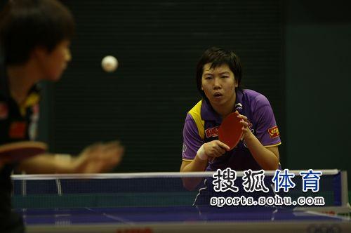 李晓霞在比赛中