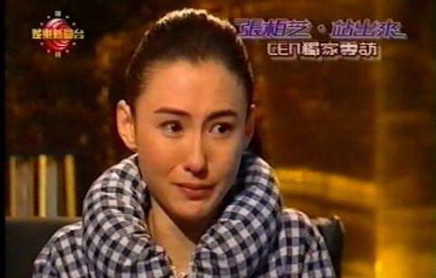 张柏芝接受电视台专访,忍不住当场落泪。资料图