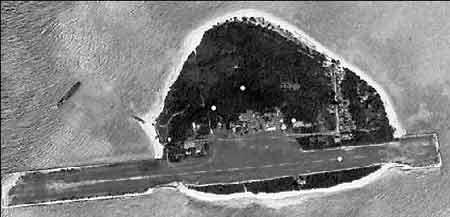 从空中可以看出,菲律宾已经在岛上修建了飞机跑道和其他永久性设施。