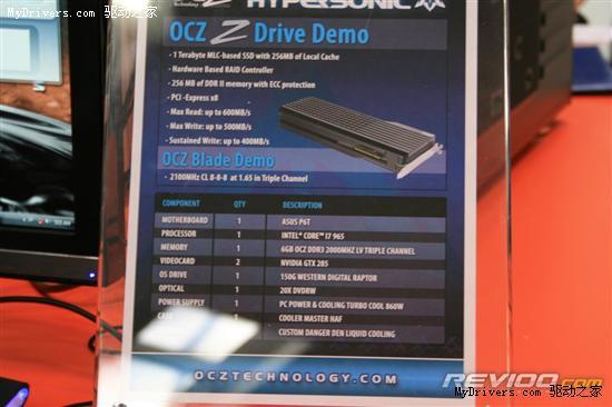 OCZ展示PCI-E x8接口1TB RAID 0固态硬盘