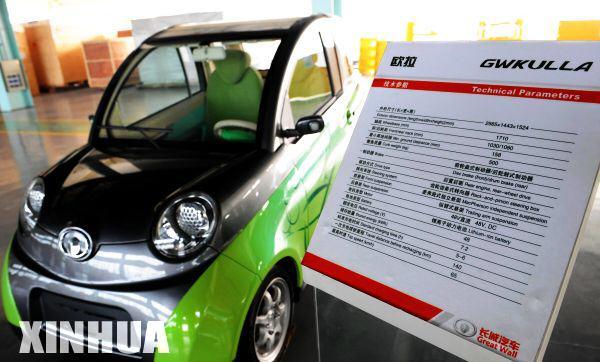 长城研发出双人座纯电动轿车 时速65公里高清图片