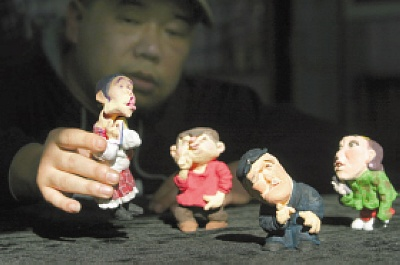 男子用泥巴捏出《不差钱》 盼小沈阳能收藏(图)图片
