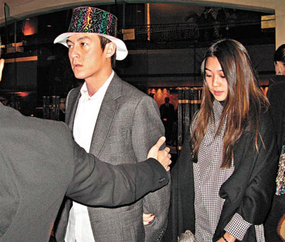 陈冠希和女友杨永晴(Vincy)。