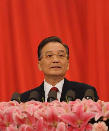 3月5日,第十一届全国人民代表大会第二次会议在北京人民大会堂开幕。国务院总理温家宝作政府工作报告。新华社记者 樊如钧摄