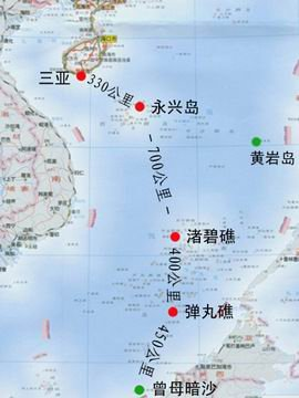 资料图:弹丸礁在南海的位置