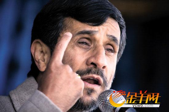伊朗总统内贾德4日发表演讲鼓舞斗志