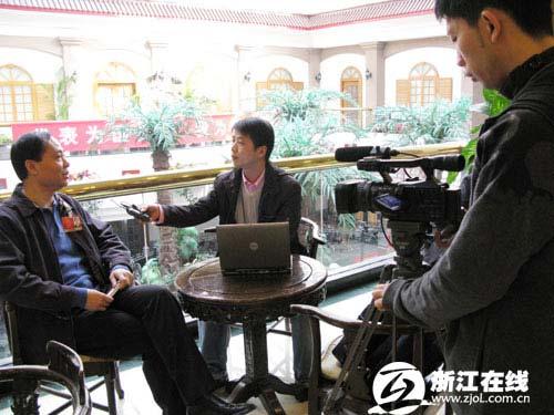 全国人大代表、浙江大学副校长姒健敏接受浙江在线记者专访