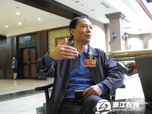 全国人大代表、浙江大学副校长姒健敏接受浙江在线记者专访1