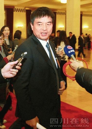 刘永好在接受记者采访 新华社发