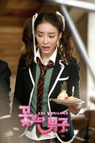 张子妍在《花样男子》中饰演恶女三人帮一员