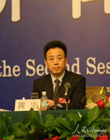 全国人大代表、四川省常务副省长魏宏