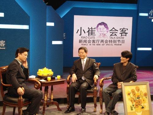 小崔与深圳市长许宗衡、大芬美术产业协会会长吴瑞球