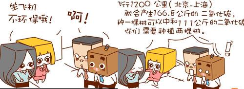 """周迅""""盒""""伙创漫画--植树节"""