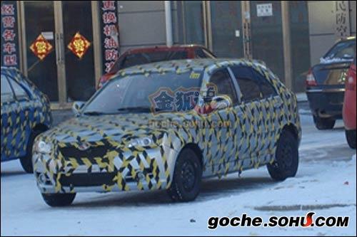 搜狐汽车独家抢先获取的V4谍照-东南V3菱悦将发布两厢版V4高清图片