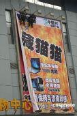 """图文:雷人广告""""不再藏猫猫""""亮相山东"""