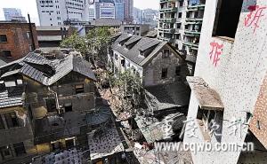 金城别墅已被开发商拆除一部分 记者 冉文 摄