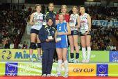 图文:诺瓦拉女排欧俱杯夺冠 领奖台大合影