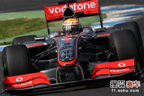 图文:F1车队赫雷斯赛道试车 汉密尔顿进行测试