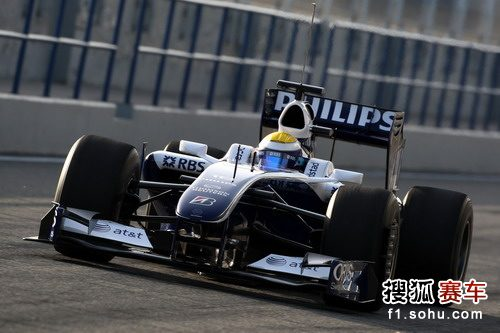 图文:F1车队赫雷斯赛道试车 罗斯伯格开始测试