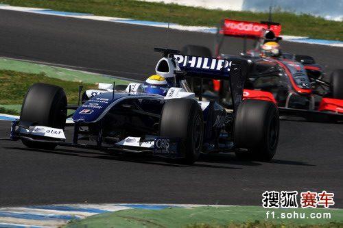 图文:F1车队赫雷斯赛道试车 罗斯伯格进行测试