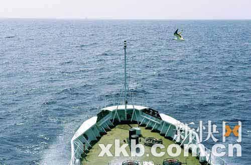 昨日,中国渔政311船在西沙海域巡航。 新快报特派记者王小明/摄
