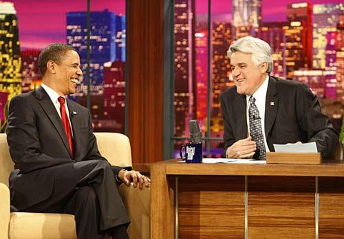 奥巴马在节目中开怀大笑。