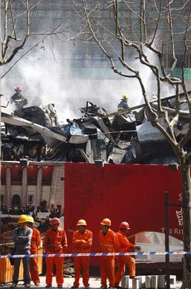 上海陆家嘴一在建工地发生火灾
