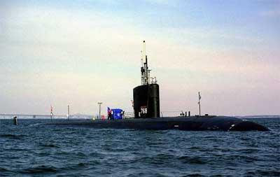 资料图:美军哈特福德号核潜艇