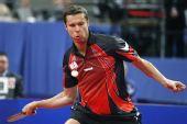 图文:乒乓球德国赛男单决赛 萨姆索诺夫拉球