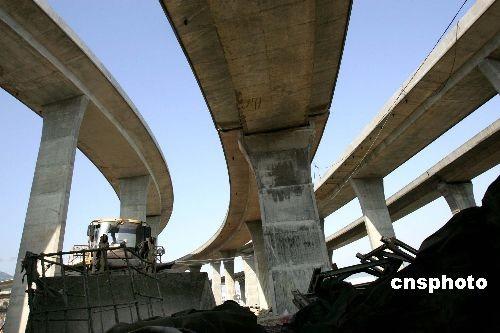 福州最大高速公路互通立交桥雏形初现