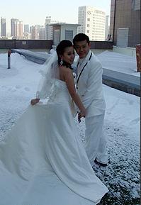 丫蛋结婚啦!直击浪漫婚纱照拍摄现场。