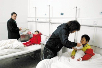 医院内的患儿