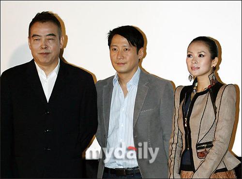 陈凯歌、黎明、章子怡韩国宣传电影《梅兰芳》